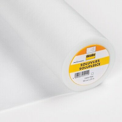 5 mt Vilene Soluvlies 321 Solufleece Water Soluble Machine Embroidery Stabiliser