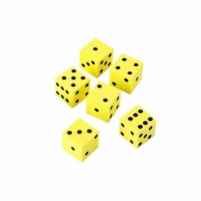 6 x 16mm Foam Dot Dice by Learning Resources - Soft Maths Dice for Children