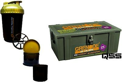 GRENADE 50 CALIBRE 580G 1.76LB PRE WORKOUT .50 PRE-WORKOUT MUSCLE PUMP + 3in1