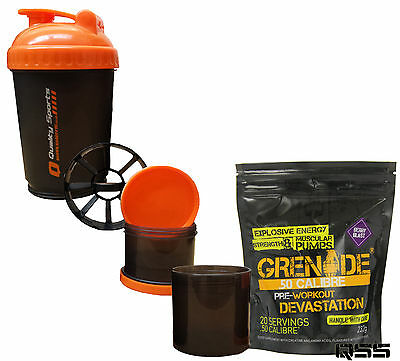 GRENADE 50 CALIBRE 232g 20 SERVINGS PRE WORKOUT PRE-WORKOUT MUSCLE PUMP + 3in1