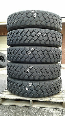 Set of 5 Michelin XZL 11.00R20 off road tires