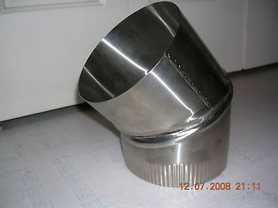 4 inch stove pipe Stainless Steel 30 Degree Single Wall Elbow Made in Maine USA & 8 INCH STOVE pipe Stainless Steel Clean Out Tee Made in Maine USA ...