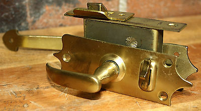 Lawrence Brothers 432-DB Dull Brass Mortise Screen Door Latch Handle Kit Antique