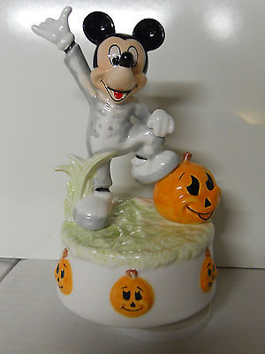 Schmid Walt Disney Mickey Mouse Rotating Music Figurine-Funeral March-Halloween