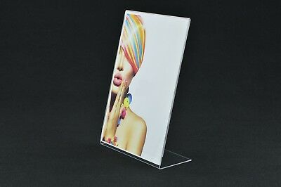 10 x A4 Angled Portrait Price / Poster / Leaflet Display / Menu Holder Acrylic