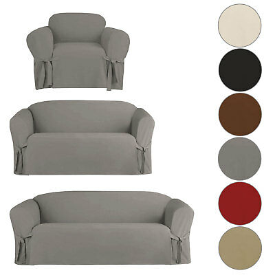 MicroSuede Comfortable Slipcover Sofa Loveseat Chair Furniture Cover Protector