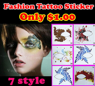 Brand New Temporary Eye Tattoo Transfers&Eyeliner Sticker&Eye shadow Sticker