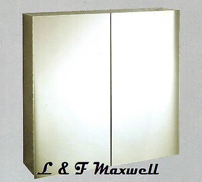 High grade stainless steel shaving mirror cabinet with piano hinge 600mm