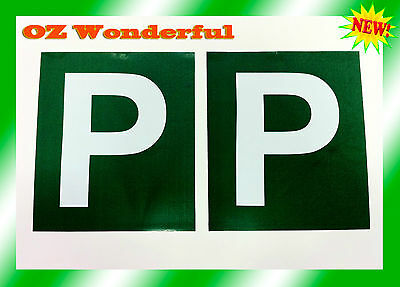 2PCs Magnetic Green P Plate sell Red P also