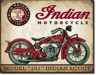 Indian Motorcycles 101 Scout Collectable Tin Metal Signs Combined Postage For 2+
