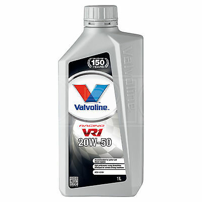 Valvoline VR1 Racing 20W50 Highly Refined 20W-50 Mineral Engine Oil 1 Litre 1L