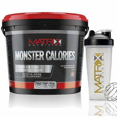 4Kg Matrix Nutrition Monster Calories - Serious Mass Whey Protein - All Flavours
