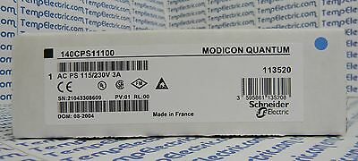 140-CPS-111-00 MODICON POWER SUPPLY MODULE 3AMP 115/230VAC 140CPS11100
