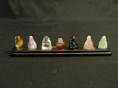The Seven Gods of China - Hand Carved Miniature Stone Figurines