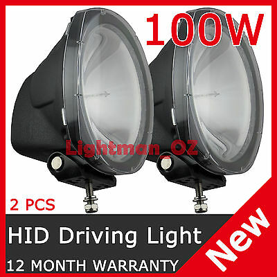"""2 PCS 100W 8"""" HID XENON DRIVING LIGHT SPOT BEAM OFF ROAD LAMP OFFROAD 8 Inch"""