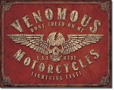 Venomous Motorcycles  Collectable Tin Metal Signs Combined Postage For 2+