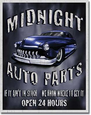 Midnight Auto Parts  Tin Metal Signs Combined Postage For 2+ #1564