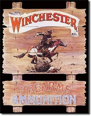 Winchester Firearm Ammunitions Tin Metal Signs Combined Postage For 2+