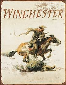 Winchester Tin Metal Signs Combined Postage For 2+