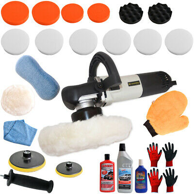 DUAL ACTION ECCENTRIC EXCENTRIC ROTATION CAR POLISHER ELECTRIC + Set 4, 710 W