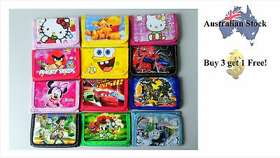 Colorful Non Woven Cartoon Purse / Wallet for Boys / Girls (41 Cartoon Options!)