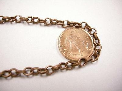 5 feet 5x4mm antique copper unsoldered chain-3967