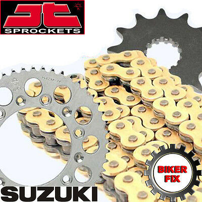 Gold X-Ring Chain & and Sprocket Set Kit SUZUKI GSF1250 K7-K9 BANDIT ABS 07-09