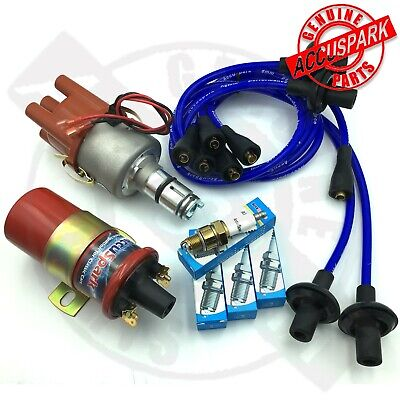 VW Beetle 009 Electronic Distributor Sports Coil,Blue leads, Rotor,IRIDIUM plugs