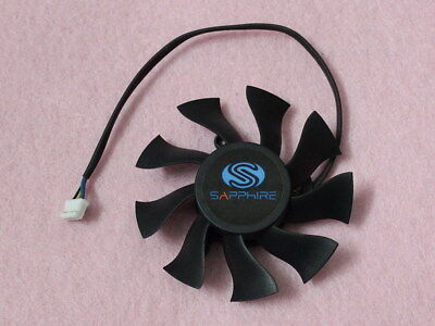 75mm Sapphire Video Card Fan with LED 39mm 2Pin FD8015H12D DC 12V 0.32A R116a