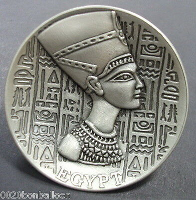 "Egyptian Pharaoh Nefertiti Ancient Fridge Magnet Engraved 2.2"" Hieroglyphics 206"