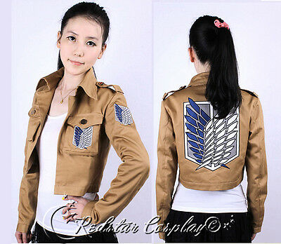 Attack on Titan Shingeki no Kyojin Recon Corps Cosplay Jacket