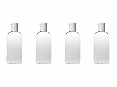 HOLIDAY TRAVEL BOTTLES PACK - 4 x 100ML Clear Bottles & Bag - Airline Approved
