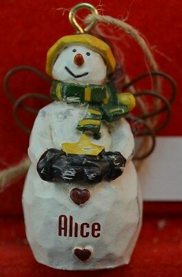 Ganz Country Snow Angle Personalized Ornaments Names G Thru K