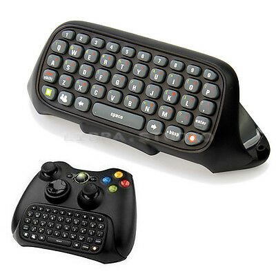New Controller Shell Case+Black Wireless Text Messenger Keyboard For XBOX 360