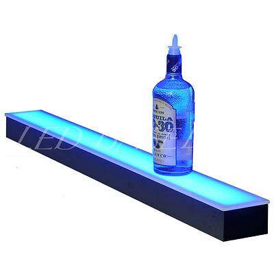 "40"" LIGHTED LIQUOR BOTTLE DISPLAY- LIQUOR SHELF with LED COLOR CHANGING LIGHTS!"