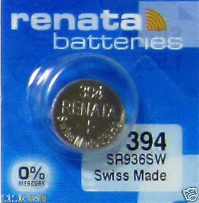 15 Renata 394 Swiss Made SR936SW Silver Oxide Batteries