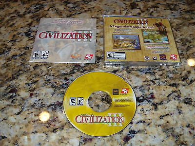 SID MEIER'S CIVILIZATION III 3 PC ( NEAR MINT CONDITION ) LOW AND FAST SHIPPING