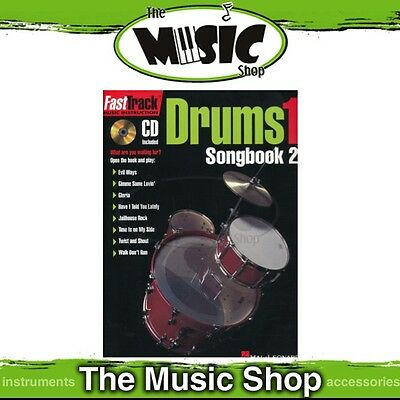New Fasttrack Drums 1 Songbook 2 Book & CD - Fast Track Music Book