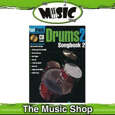 New Fasttrack Drums 2 Songbook 2 Book & CD - Fast Track Music Book