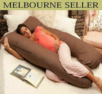 Brown Maternity Pillow Pregnancy Nursing Sleeping Body Support Boyfriend