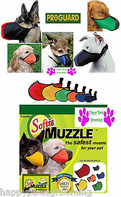 SOFTIE COMFORT DOG MUZZLE ProGuard STRONG Nylon Mesh Quick-Fit,Adjustable,Safer