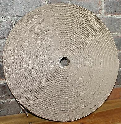 "1"" Desert Tan Nylon Webbing Strapping 100 Yard Roll"