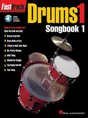 New Fasttrack Drums 1 Songbook 1 Book & CD - Fast Track Music Book
