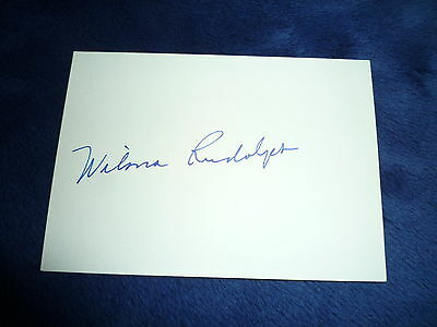 WILMA RUDOLPH signed Autogramm 10x15cm In Person 3x  OLYMPIA Gold (+1994)