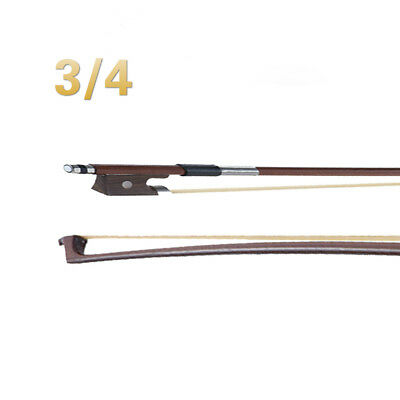 1PC-3/4 Violin Bow -Violin Bow (Size: 3/4) -Round Stick Horse Hair-NEW