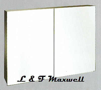High grade stainless steel shaving mirror cabinet 900mm with piano hinge