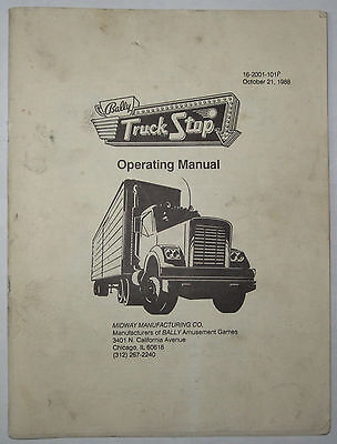1988 Bally/Midway Truck Stop Operating Manual