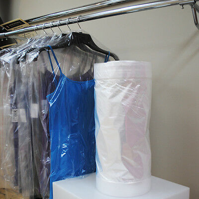 Polythene Garment Covers Clothes Bags Select Size & Qty