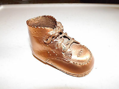 Vintage Bronzed Baby Shoe 4 Inches Long