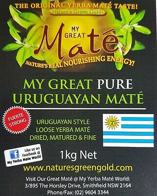 1kg My Great PURE Uruguayan Mate~ YERBA MATE (Strong)